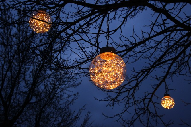 Firefly Globes - Hanging: 8, 10, 12 inch
