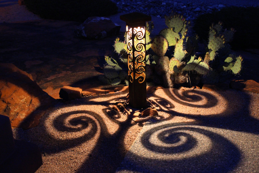 Swirls 6x6x42 Bollard shadow patterns